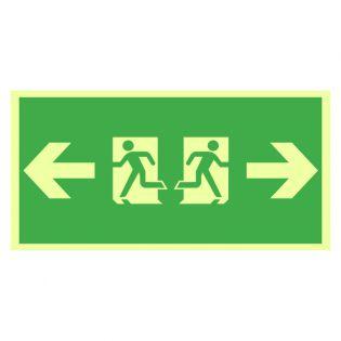 Rømningsveiskilt begge veier