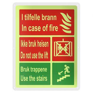 Skilt bruk trapp i tilfelle brann