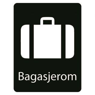 Taktilt skilt Bagasjerom