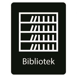 Taktilt skilt Bibliotek