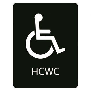 Taktilt skilt Handicaptoalett