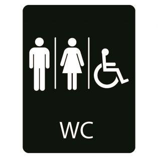 Taktilt skilt WC Herrer - Damer - Handicap